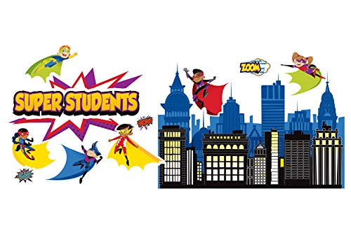 Carson Dellosa Super Power Super Kids Bulletin Board Set (Board Material)