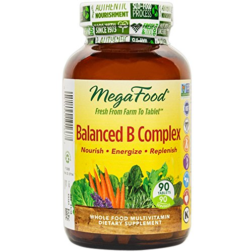 MegaFood – Balanced B Complex, Promotes Energy & Health of the Nervous System, 90 Tablets (FFP)