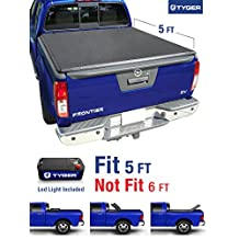 Tyger Auto TG-BC3N1028 TRI-FOLD Truck Bed Tonneau Cover 2005-2018 Nissan Frontier; 2009-2014 Suzuki Equator | Fleetside 5' Bed | For models with or without the Utili-track System