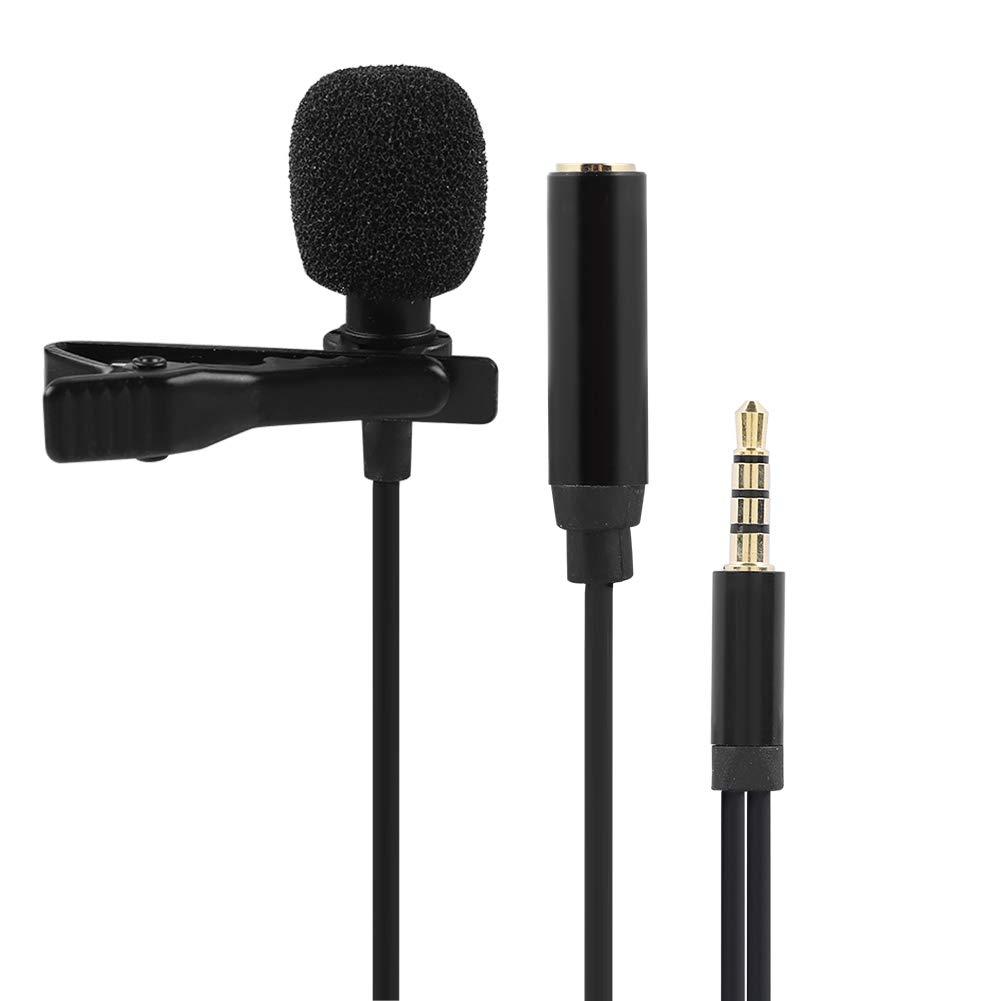 Topiky GW-510E Micr/ófono de Condensador de Solapa de 3.5 mm con micr/ófono de Solapa para tel/éfono m/óvil para K Canci/ón//Grabaci/ón//Chat de Voz//Discurso//Transmisi/ón en Vivo