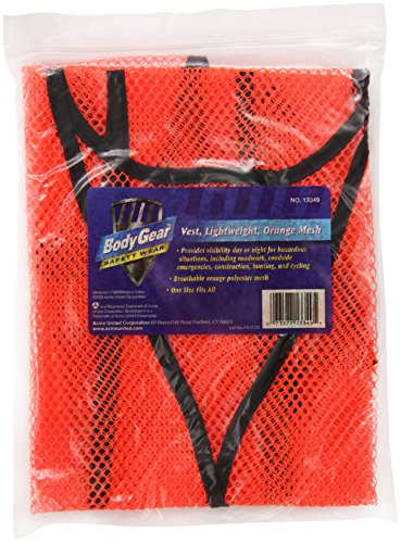 BodyGear Mesh Safety Vest, Orange