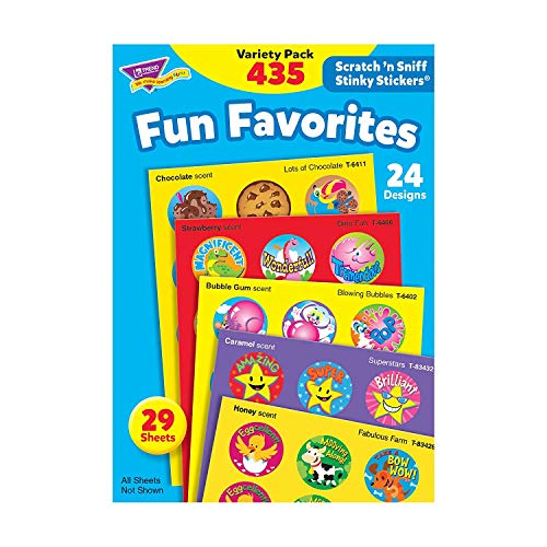 T6491 Trend Stinky Stickers Variety Pack, Fun favorites, 435/pack (Premium pack)