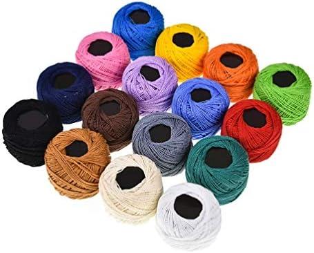 Artibest Juego de 16 hilos de ganchillo de 16 colores de hilo de ...