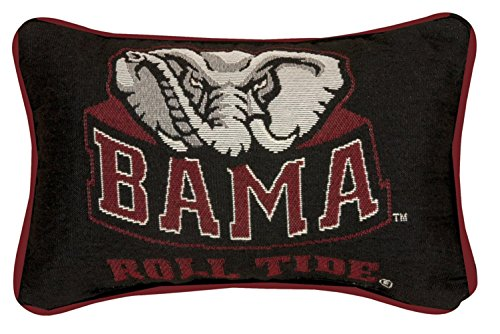 NCAA University of Alabama Big Al Mascot Logo Tapestry Throw Pillow 8.5