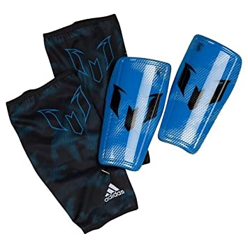 buy online 68def 65bd6 adidas Messi 10 Shin Guard - Black Blue Silver, Medium  Amazon.co.uk   Sports   Outdoors