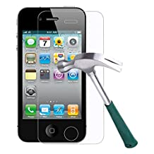 iPhone 4S/4 Screen Protector,TANTEK [Bubble-Free][HD-Clear][Anti-Scratch][Anti-Glare][Anti-Fingerprint] Premium Tempered Glass Screen Protector for Apple iPhone 4/4S,[Lifetime Warranty]-[2Pack]