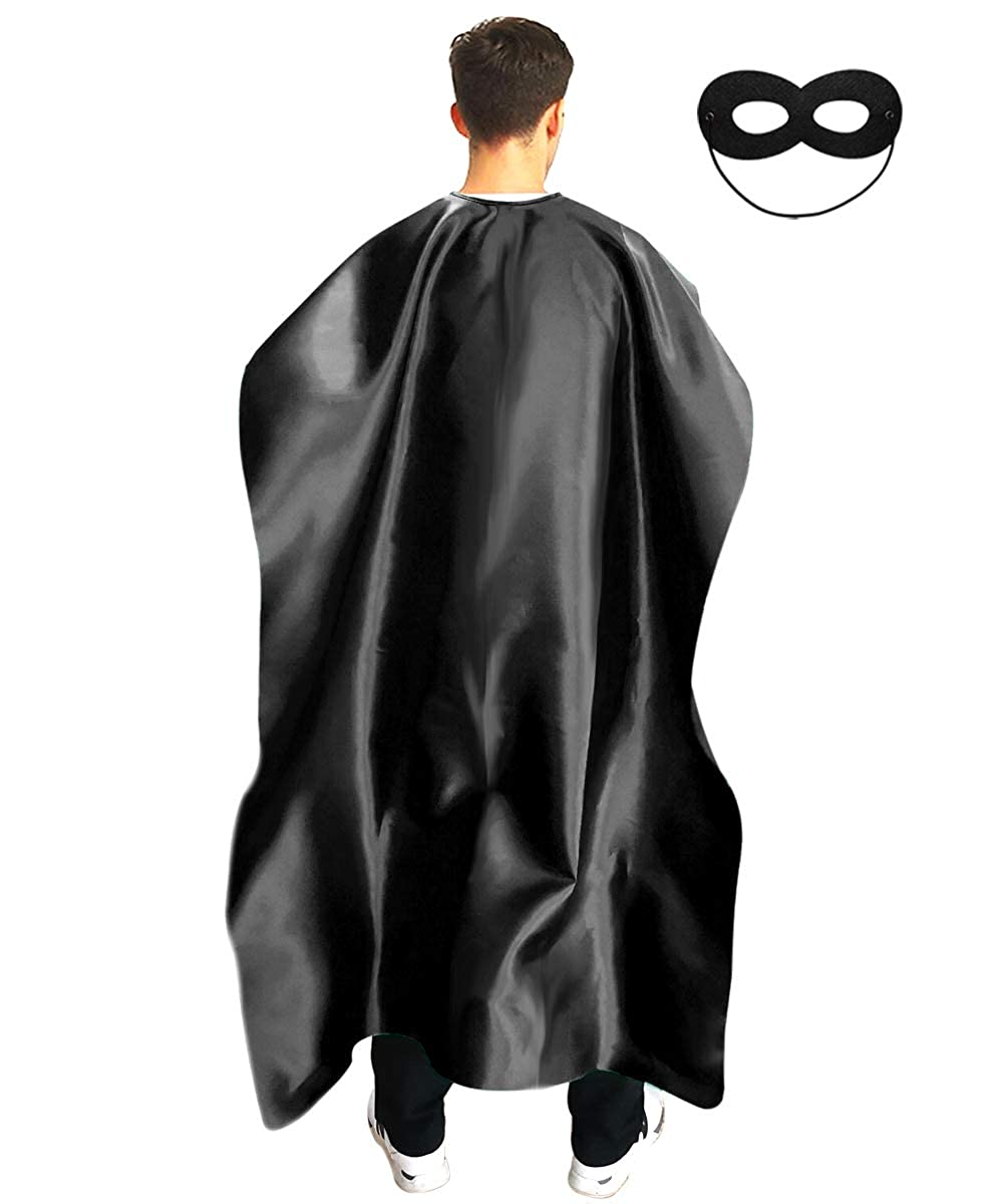 Dress Up Superhero Costume for Party or Vacation Bibble School Adult Superhero Cape and Mask for Man and Woman