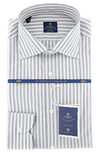 new-luigi-borrelli-black-striped-extra-slim-shirt