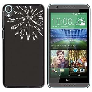 YOYOYO Smartphone Protección Defender Duro Negro Funda Imagen Diseño Carcasa Tapa Case Skin Cover Para HTC Desire 820 - fuegos artificiales de año nuevo blanco negro 4'th