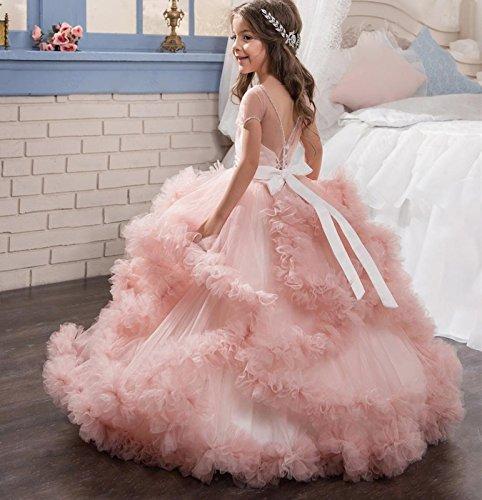 Hochzeitskleid Mädchen Lange Kinder Weiß Blumenmädchen Mingxuerong Kleider dP5qxd