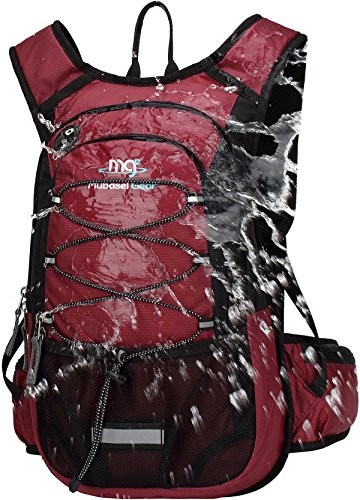 (Mubasel Gear Insulated Hydration Backpack Pack with 2L BPA Free Bladder - Keeps Liquid Cool up to 4 Hours – for Running, Hiking, Cycling, Camping (Wine))