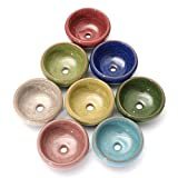 8 PCS 2.25 Inch Mini Ceramic small succulent Planter Pot Serial Cactus Planter Pot Flower Pot Container Planter