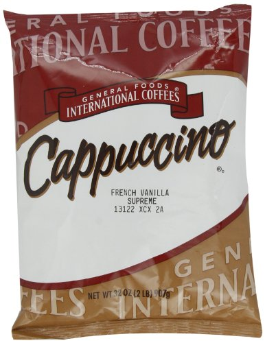 French Foods General Coffee - General Foods French Vanilla Supreme Instant Coffee Mix, 2 lb. pack, Pack of 6