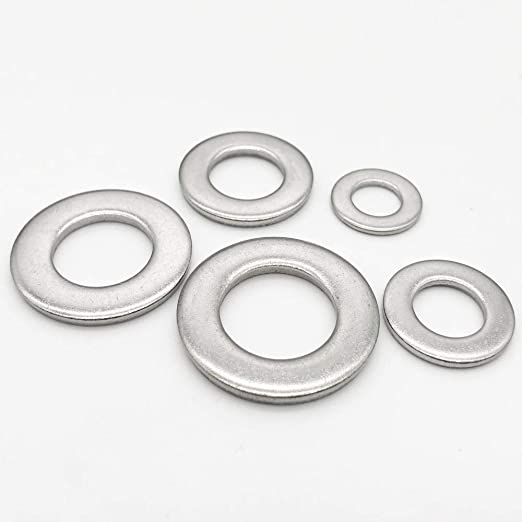 100pcs M8 304 Stainless Steel Plain Flat Washers for Bolt Screws