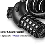 NDakter Bike Lock Cable,4 Feet High Security 5