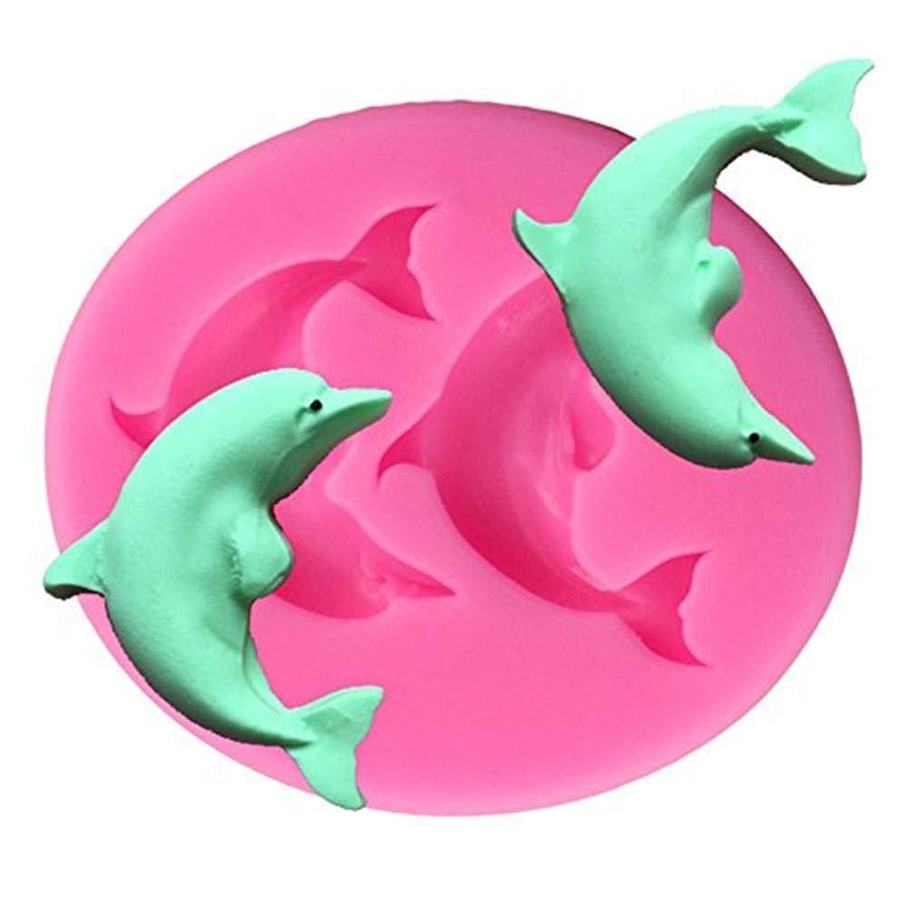 Stampo in silicone a forma di delfino torta al cioccolato muffa DIY di cottura Mold Candy making stampi Handmade DIY Mold by Futurepast