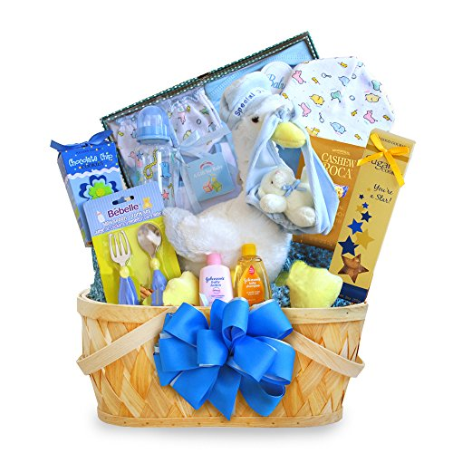 California Delicious Gift Basket, Special Stork Delivery Baby Boy (Stork Baby Gift Baskets)