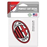 """AC Milan 4""""x4"""" Die Cut Decal - Italian Serie A League"""