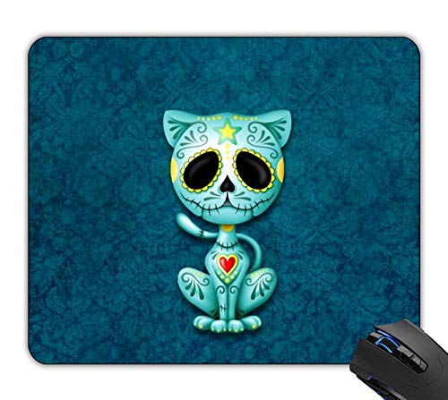 OTTIET Custom Blue Zombie Sugar Kitten Gaming Mouse Pad 9.5 X 7.9 Inch (240mmX200mmX2mm).Non-Slip Thick Rubber Large Mousepad (Blue Kitten Zombie Sugar)