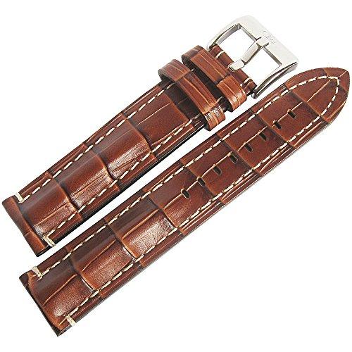 Di-Modell Bali Chrono 22mm Tan Alligator-Grain Leather Watch Strap (Tan Alligator Grain)