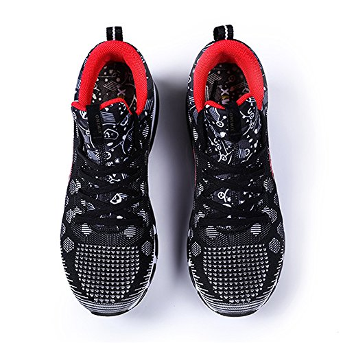 ONEMIX Mens Mesh Sneakers Air Cushion Running Walking Traling Shoes Black White Red Size 7.0 US by ONEMIX (Image #7)