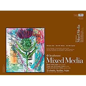 Strathmore 400 Series Mixed Media Pad, 18″x24″, White, 15 Sheets