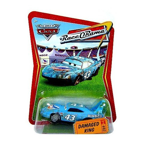 Race O-rama Series (Disney / Pixar CARS Movie 1:55 Die Cast Car Series 4 Race-O-Rama Damaged King)