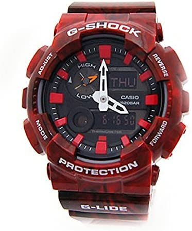 Casio G-Shock New GAX-100MB-4A G-Lide Red Watch
