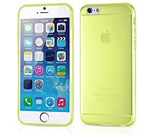 """QDI Ultra Thin Clear Crystal Rubber Tpu Silicone Soft Case Cover for Apple 4.7"""" Iphone 6 (Yellow)"""