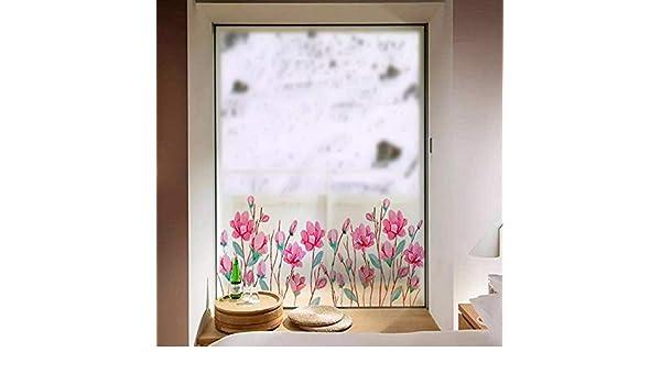 JJZZ Película para ventanas Ventana corrediza translúcida con luz Floral, Puerta corredera con Personalidad, con película de Vidrio Adhesivo: Amazon.es: Deportes y aire libre