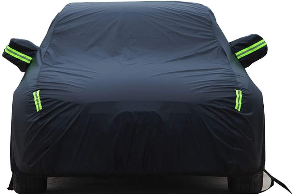 Color : Black WENJINGYUAN Compatible With Daihatsu Copen Car Cover Four Seasons Universal Fully Waterproof Scratch Proof Durable Car Cover Breathable Cotton Lined Heavy Duty snow proof car cove
