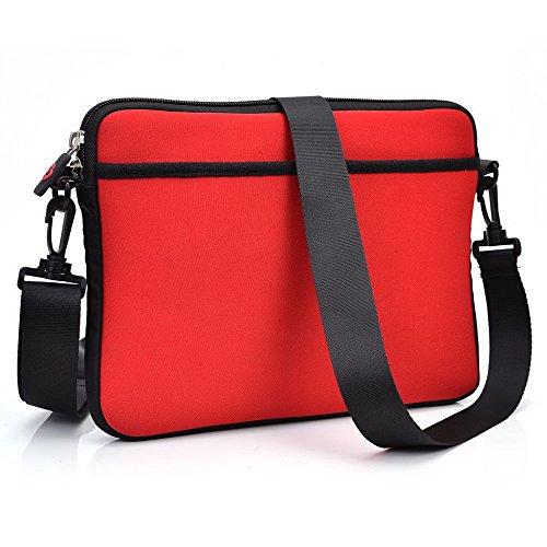 Kroo Tablet Sleeve mit abnehmbarem Tragegurt Neopren Schutzhülle für Icemobile G2Tablet grau grau rot 1jUhlKFm
