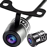 Car Backup Camera Waterproof Rear View Universal Vehicle Reversing System, With Parking Lines, High Definition, Best View Angel, Bracket and Flush Mount, 2 in 1 Instalation Option by Yanees