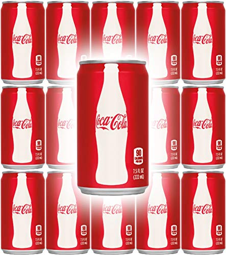 Coca-Cola, 7.5 Fl Oz Mini Can (Pack of 15, Total of 112.5 Oz) ()