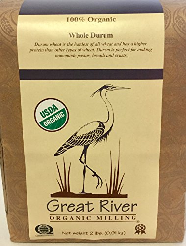 Great River Organic Milling Organic Whole Grain Durum Wheat, 2 Pound