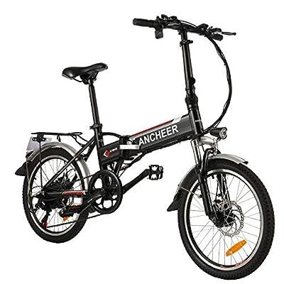 ANCHEER 20 Zoll E-Bike Klappbar, Faltbares Pedelec Elektrofahrrad mit 288Wh Lithium-Akku 250 Watt Motor Shimano 7-Gang