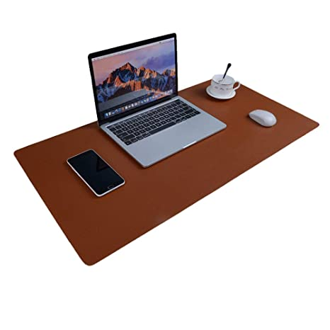 Admirable Large Desk Pad Mouse Pad Aisakoc 35 4X15 75 Inches Non Slip Pu Leather Desk Mouse Mat Waterproof Desk Pad Protector Gaming Writing Mat For Office Home Remodeling Inspirations Gresiscottssportslandcom