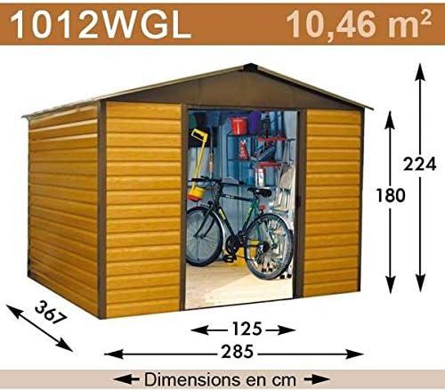 YardMaster-Caseta de jardín metálica 1012WGL-11, 39 m²: Amazon.es: Jardín
