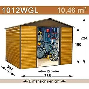 YardMaster-Caseta de jardín metálica 1012WGL-11,39 m²