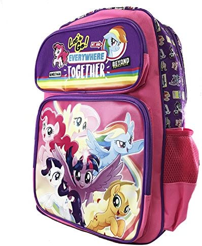 My Little Pony Movie Let s go everywhere together Large 16 Inches Backpack 16