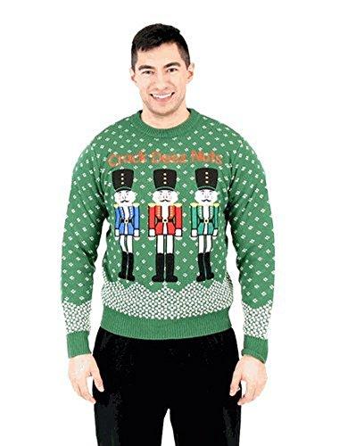 Ugly Christmas Adultes Vert Crack Sweater Costume Nuts Agent Deez P4xa5Czq
