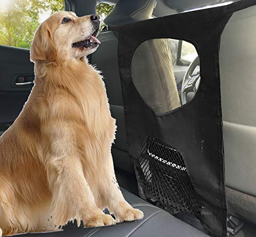 Lifepul Pet Barrier Net Dogs Backseat Barrier Mesh Obstacle Dog Car Fence Mesh, to Keep Your Pets and Drivers Safety inTravel, One Size Fit Most & Easy to Install for Car,SUV,Truck,