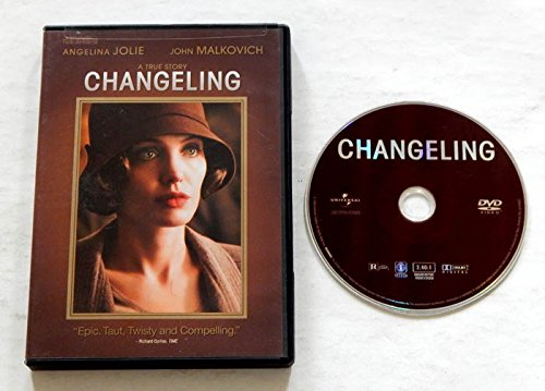Changeling Wide Screen DVD Movie - Universal Pictures 2008 - A USED DVD Movie - Graded 9.2 BY THE SELLER - Angelina Jolie , John Malkovich - Directed by Clint Eastwood