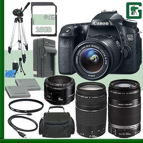 Canon EOS 70d Kit de cámara réflex Digital con Lente de 18 – 55 mm ...