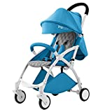 New Style – Babysing Baby Stroller Baby can sit Reclining cart Folding Light Umbrella Baby cart Impbaby i9 (Sky Blue Color)