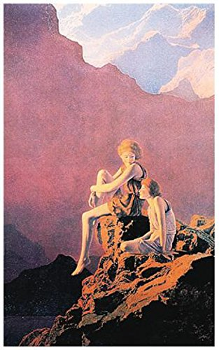Set: Maxfield Parrish, Contentment Poster (36x24 inches) And 1x 1art1 Collection Poster