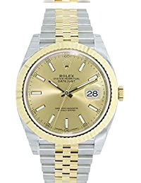 Datejust Ii 41mm Champagne Dial Yellow Gold And Steel Mens Watch 126333