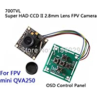 XSD MOEDL Sony 700TVL PAL Super HAD CCD II 2.8mm Lens FPV Camera + OSD Control Panel for RC Airplane / Multi-axis / FPV 250