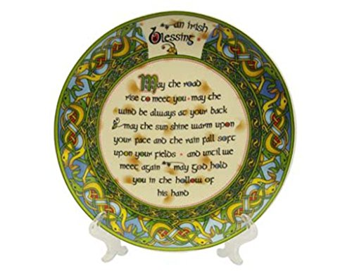 Decorative Plate 8 cm Old Irish Blessing Hanging Decorative Plate May the Road Rise to meet you.. by Royal Tara ()