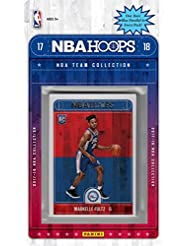 Philadelphia 76ers 2017 2018 Hoops BasketballFactory Sealed 10 Card Team Set with Joel Embiid, Ben Simmons, Markelle Fultz Rookie plus